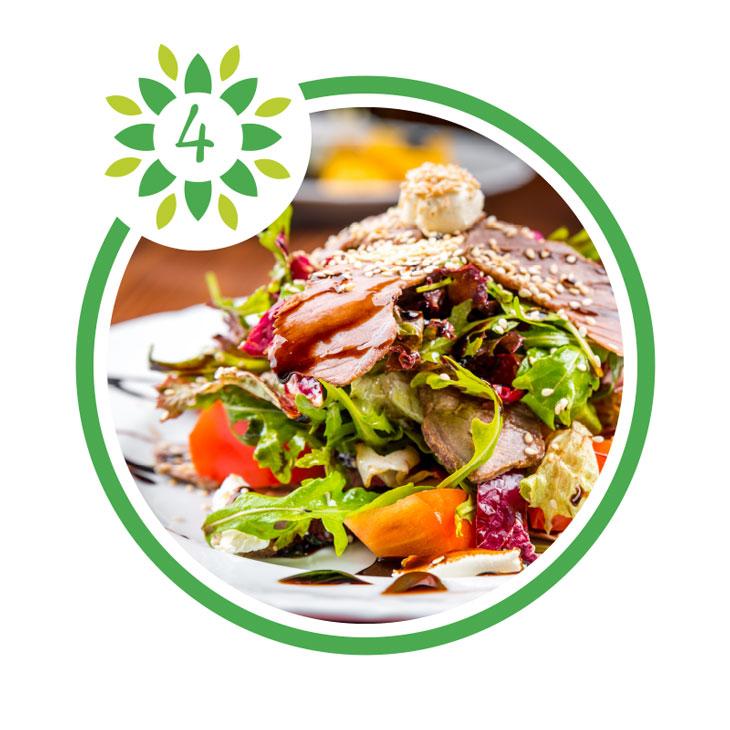 Rezepte mit Gemüse, Obst und Salat