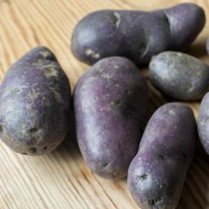 Kartoffeln blau