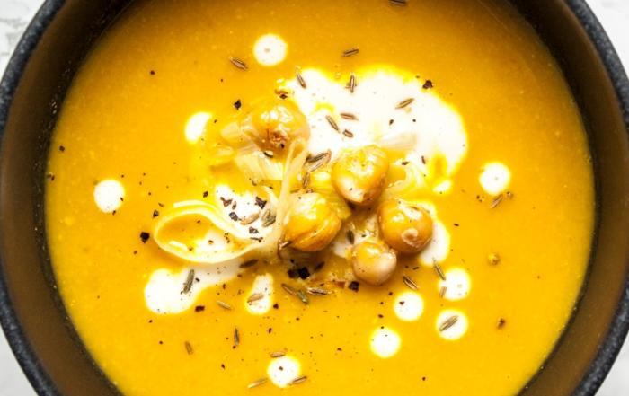 Kichererbsen-Lauch-Suppe