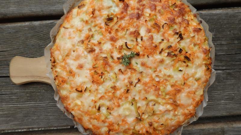Karotten-Lauch-Tarte