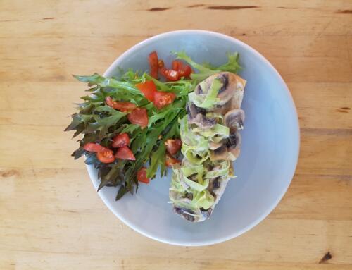 Lauch-Pilz-Toast
