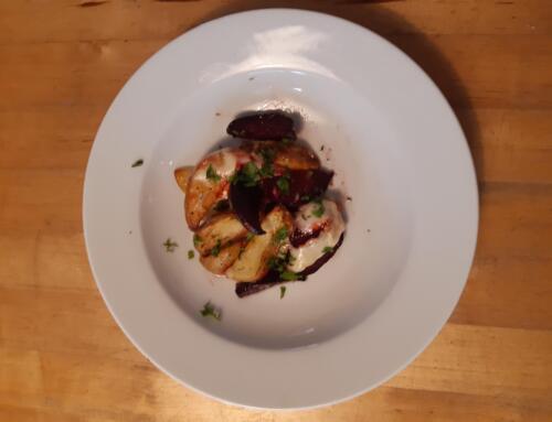 Randen-Kartoffel-Blech mit Raclette-Käse
