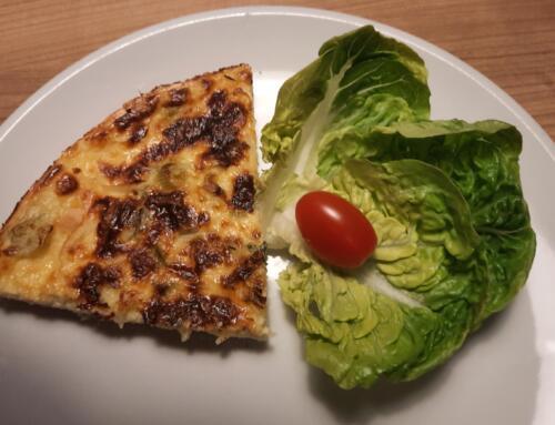 Käse-Quark-Wähe mit Frühlingszwiebeln