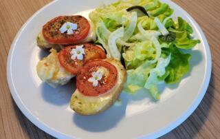 frische Tomaten-Raclette-Kartoffeln