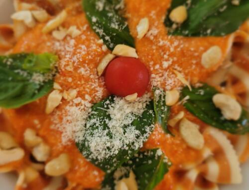 Farfalle mit Peperoni-Pesto